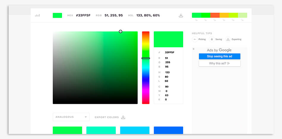 herramienta paletas color, color picker, gratis,