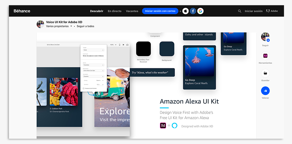 kit ui amazon alexa adobe xd, kir ui, amazon, alexa, adobe xd,