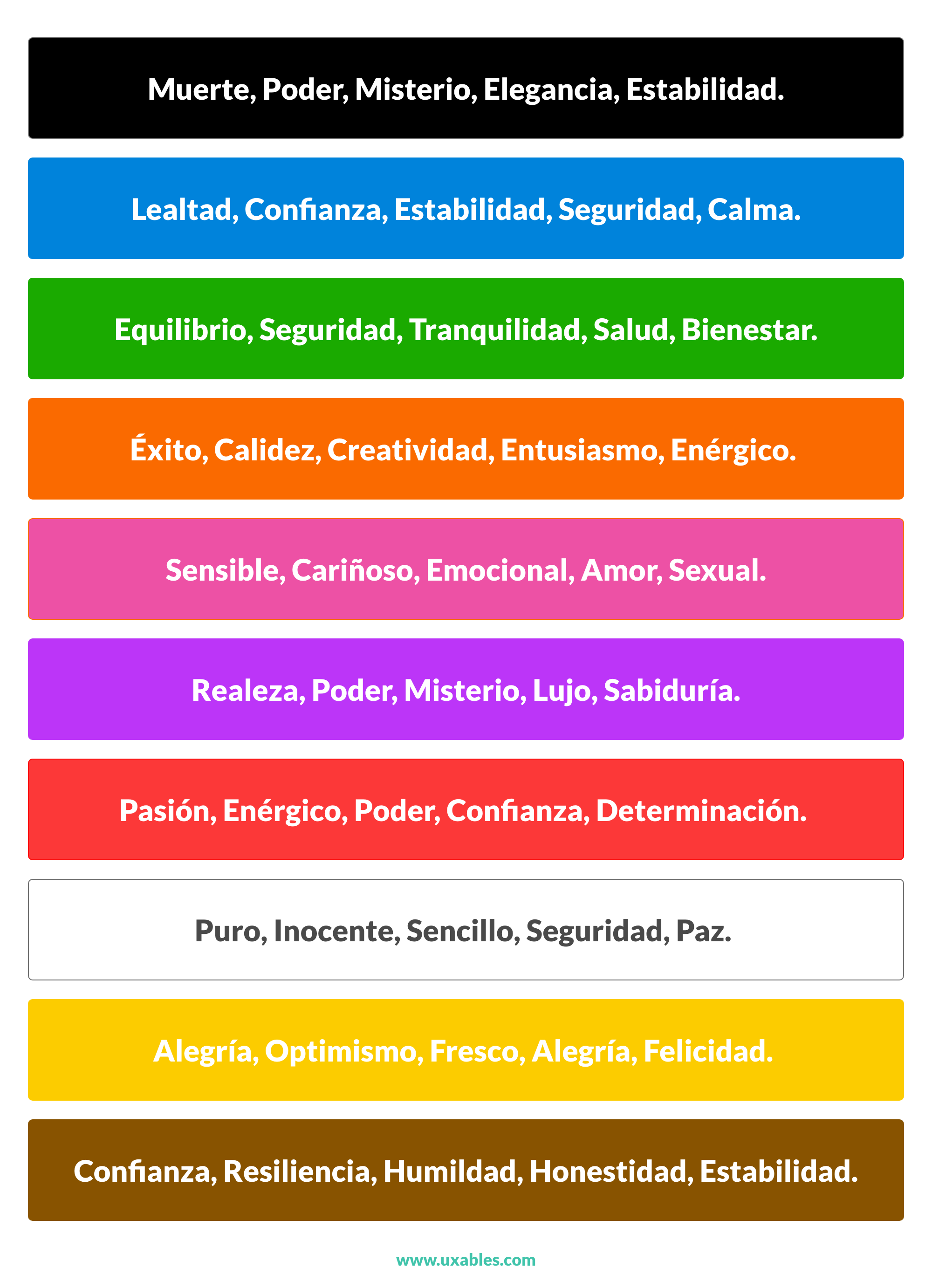 psicologia del color, psicologia de los colores, psicologia, color, colores, significado colores, ux, ui, usabilidad, interfaces, web,