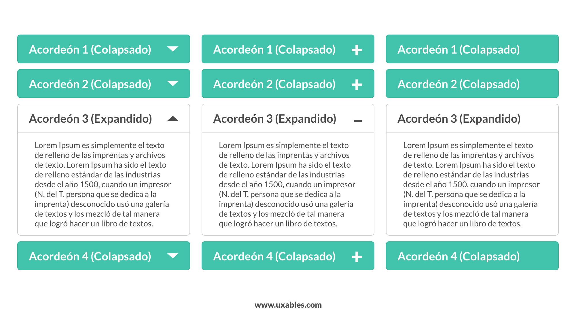 acordeon, expand and collapse, ux, ui, móvil, usabilidad,